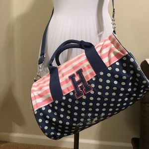 Tommy Hilfiger mini duffle bag w/ polka dots